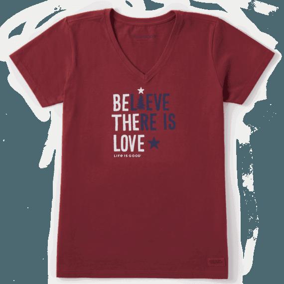 Women's Believe There Is Love Crusher Vee