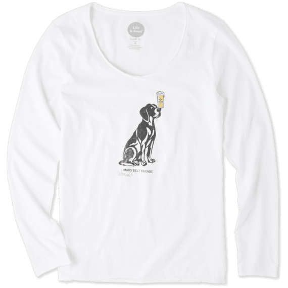 Women's Best Friends Long Sleeve Smooth Tee