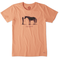 Women's Besties Horse Crusher Tee