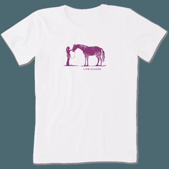 Women's Besties Horse Crusher Tee