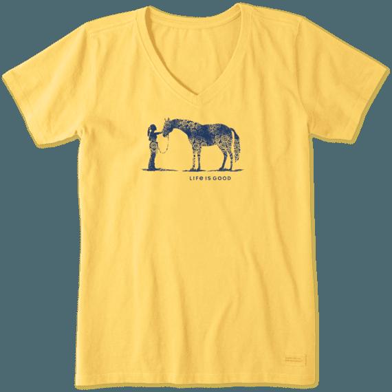 Women's Besties Horse Crusher Vee