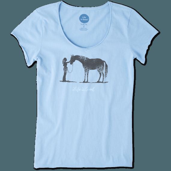 Women's Besties Horse Smooth Tee