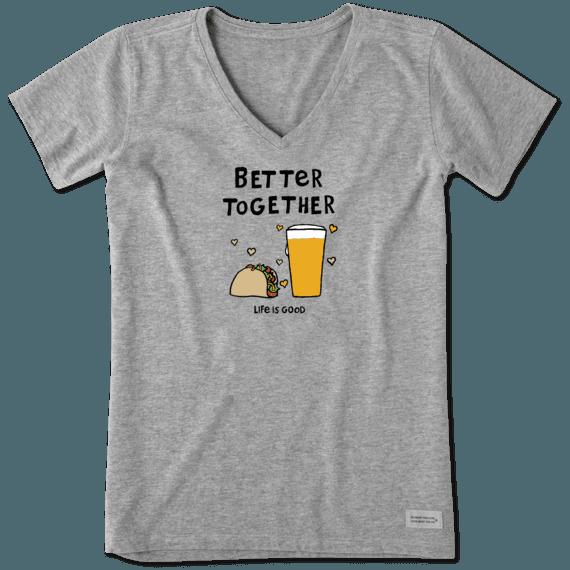 Women's Better Together Taco Beer Crusher Vee