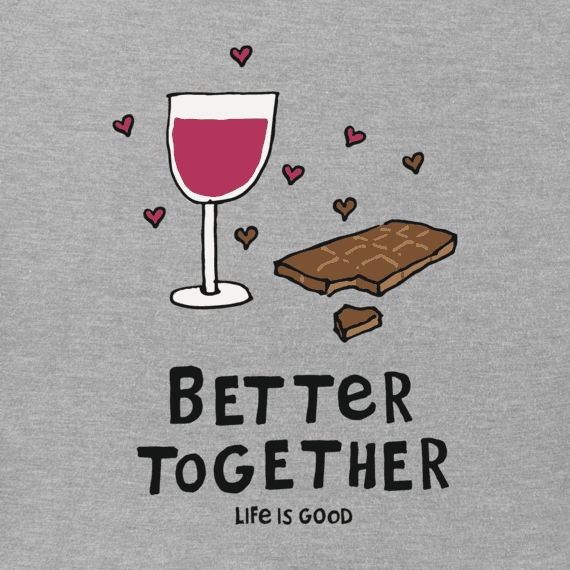 Women's Better Together Wine & Chocolate Crusher Vee