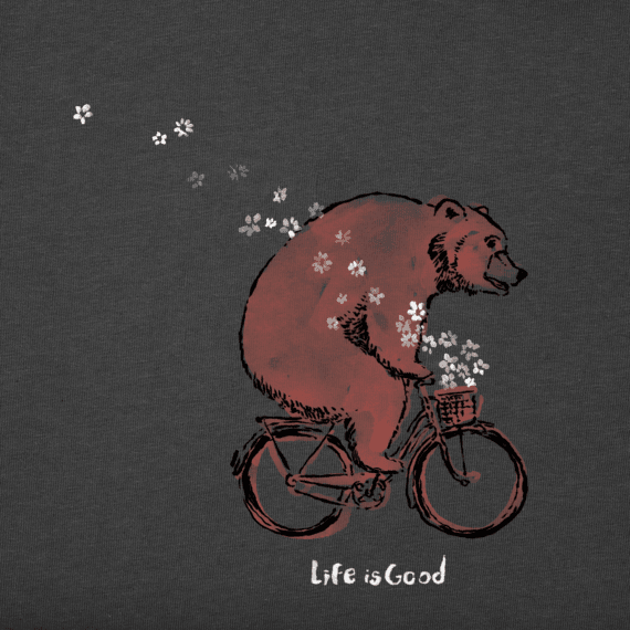 Women's Bicycle Bear Long Sleeve Crusher Tee
