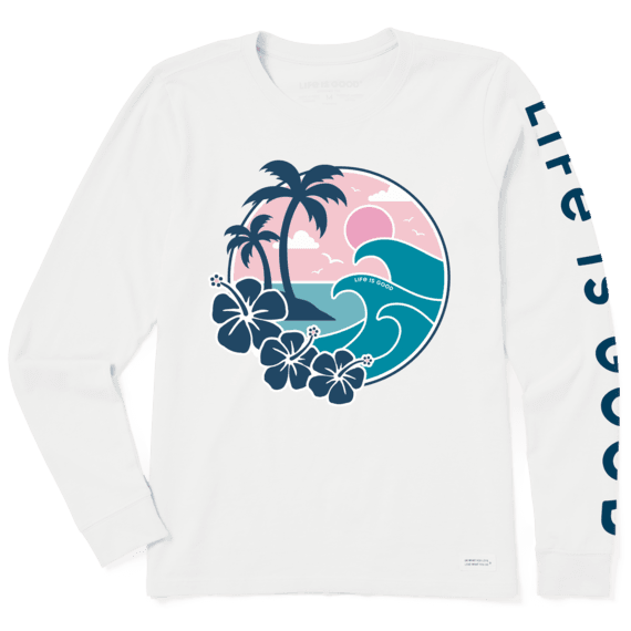 Women's Big Waves Long Sleeve Crusher Tee