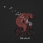 Women's Bike Bear Flowers Crusher Vee