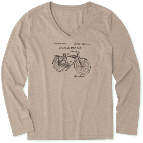 Women's Bike Blueprint Long Sleeve Cool Vee