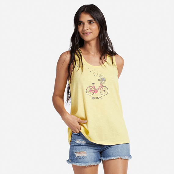 Women's Bike Delivering Love Breezy Scoop Tank