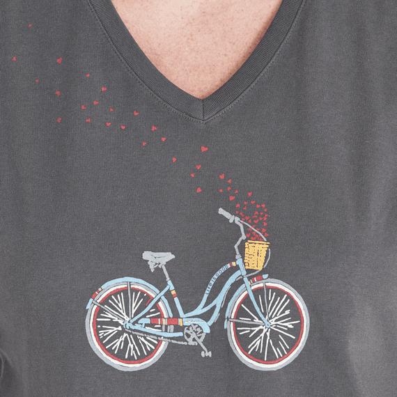 Women's Bike Heart Basket Crusher Vee