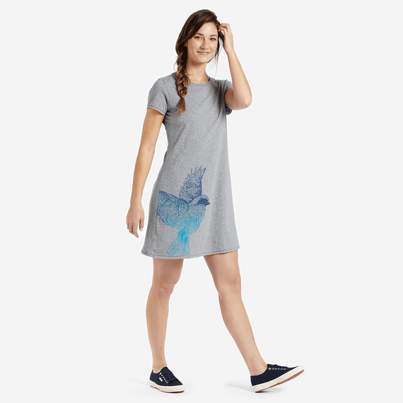 Women's Bird Smooth T-Shirt Dress