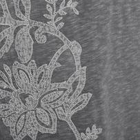 Women's Blooming Embroidery Slub Tee Dress