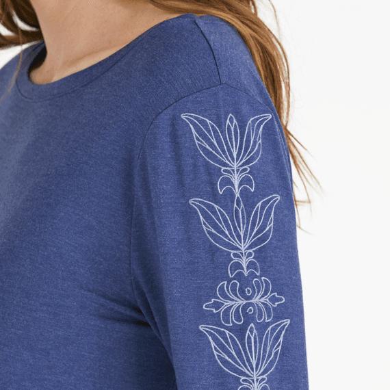 Women's Blooming Lotus Supreme Blend Split Sides Tee