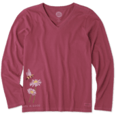 Women's Bumbling Around Long Sleeve Crusher Vee