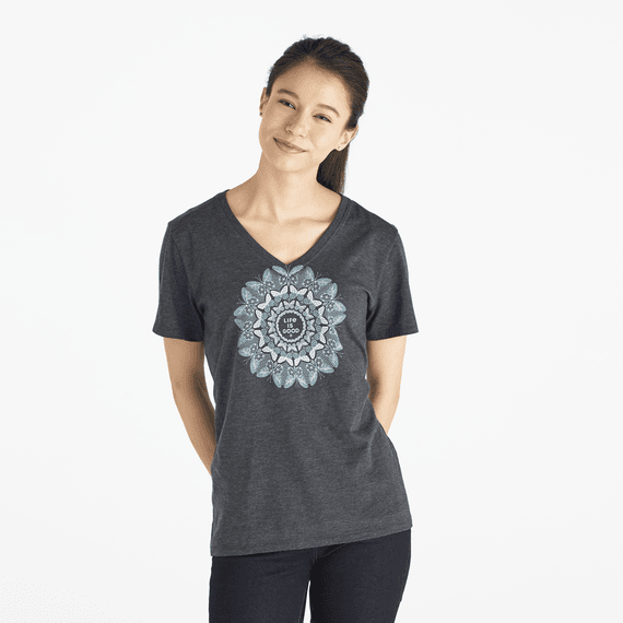 Women's Butterfly Mandala Cool Vee