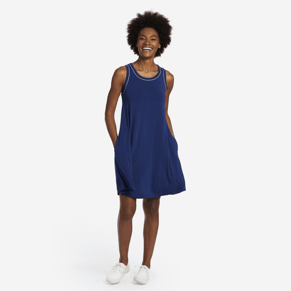 Women's Butterfly Trapeze Pocket Dress
