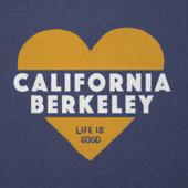 Women's California Golden Bears Heart Knockout Cool Vee