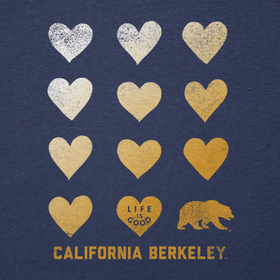 Women's California Golden Bears Heart Stack Cool Vee