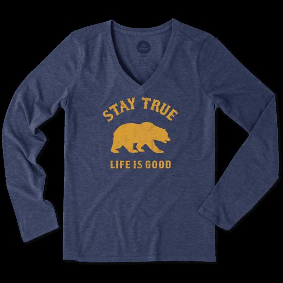 Women's California Golden Bears Stay True Long Sleeve Cool Vee