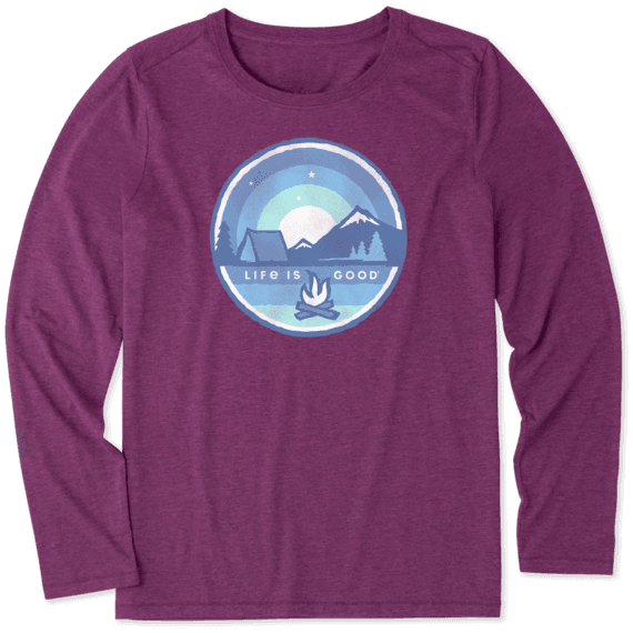 Women's Camp Coin Long Sleeve Cool Tee