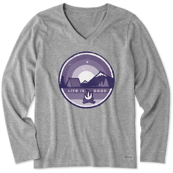 Women's Camp Coin Long Sleeve Crusher Vee