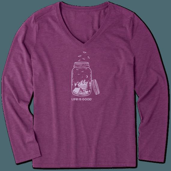Women's Camp Jar Long Sleeve Cool Vee