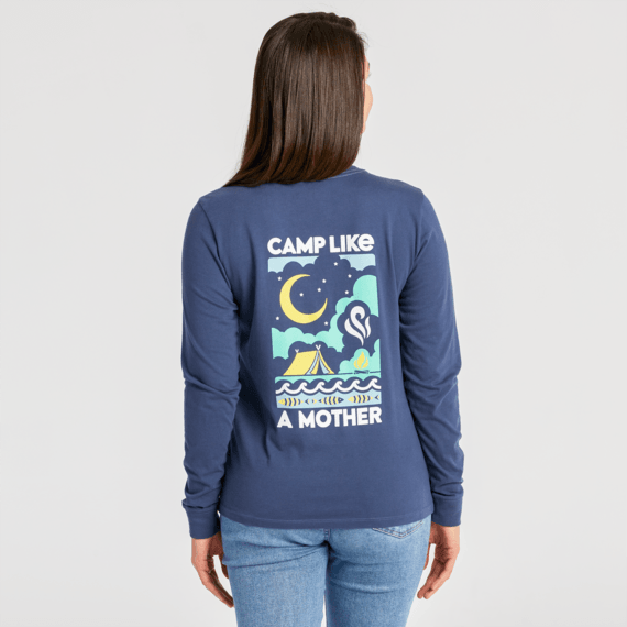 Women's Camp Like a Mother Crusher Long Sleeve