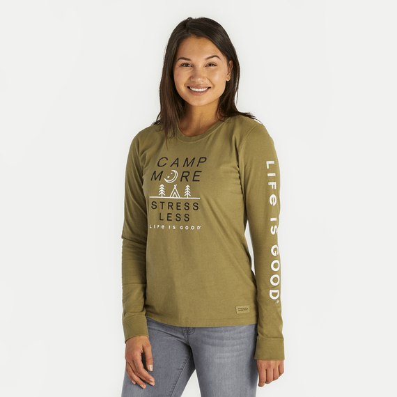 Women's Camp More Stress Less Crusher Long Sleeve