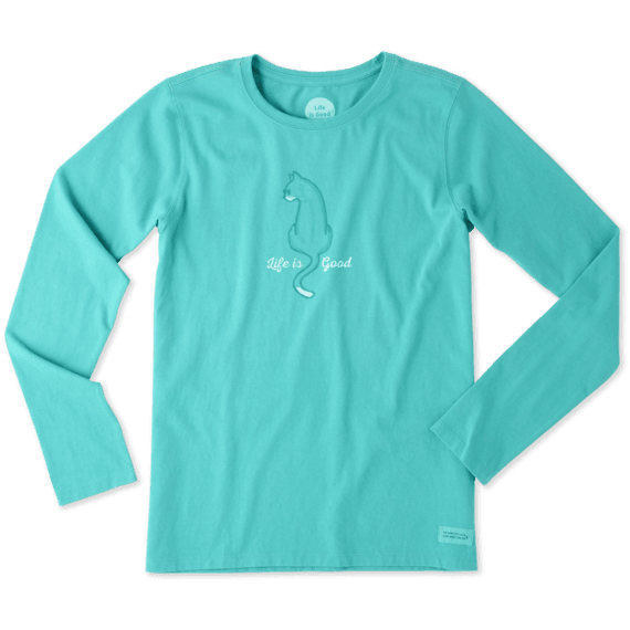 Women's Cat Back LIG Long Sleeve Crusher Tee