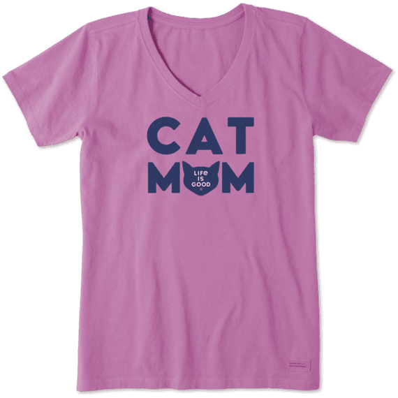 Have A Purrfect Christmas Cat Face Womens Boyfriend Fit T-Shirt