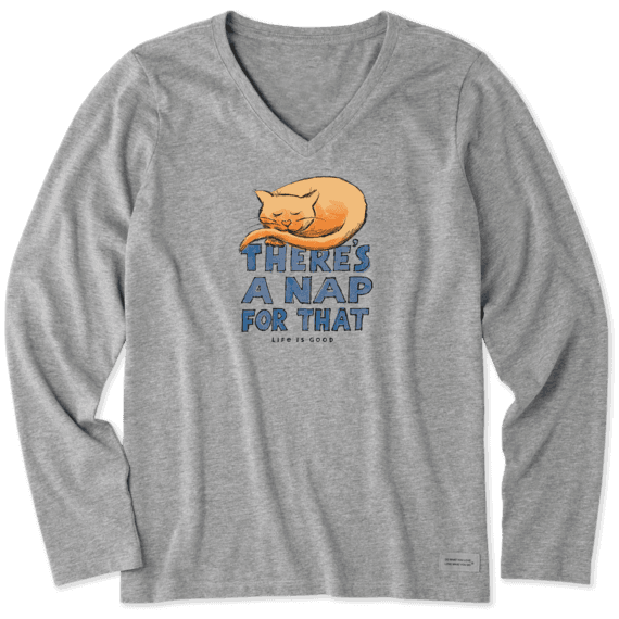 Women's Cat Nap Long Sleeve Crusher Vee