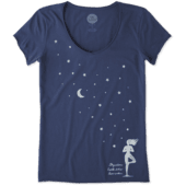 Women's Celestial Yoga Smooth Scoop Tee