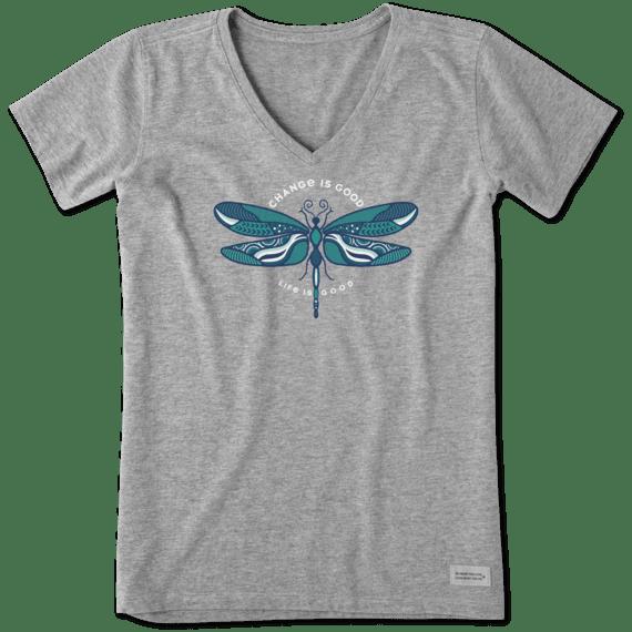 Women's Change Is Good Dragonfly Crusher Vee