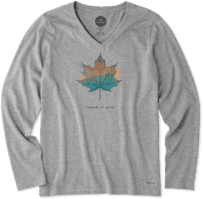 Women's Change Leaf Long Sleeve Crusher Vee