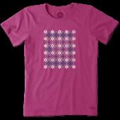 Women's Checkerboard Daisy Crusher Tee