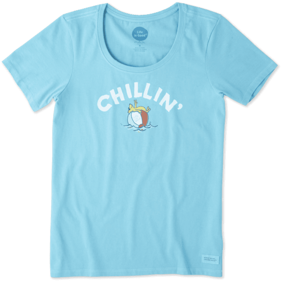 Women's Chillin' Beach Ball Crusher Scoop Neck Tee