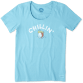 Women's Chillin' Beach Ball Crusher Scoop Neck Tee