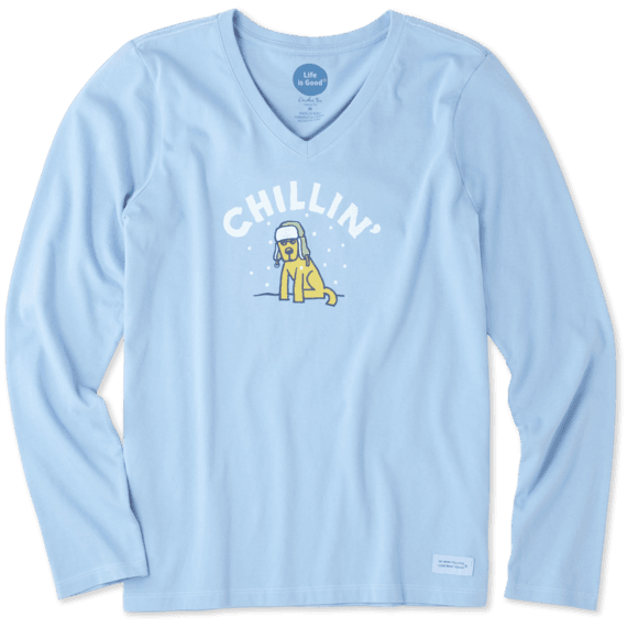 Women's Chillin' Rocket Long Sleeve Crusher Vee