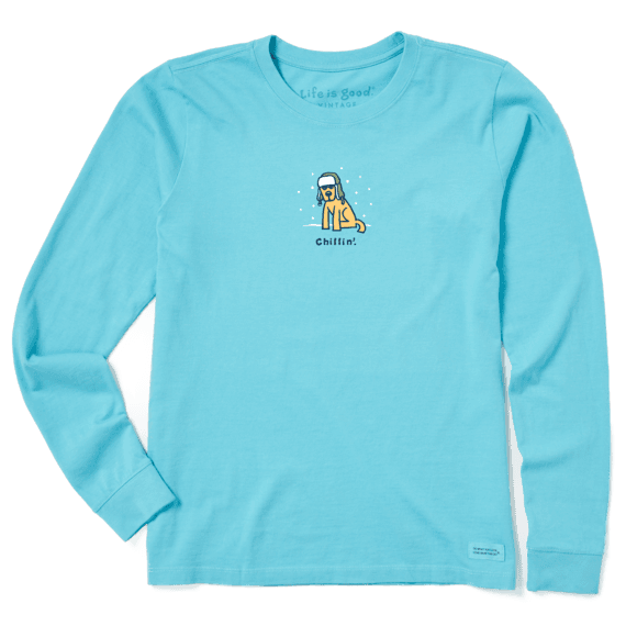 Women's Chillin' Rocket Long Sleeve Vintage Crusher Tee