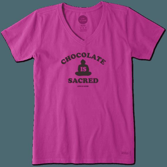 bf330012ce7 Women s Chocolate Is Sacred Crusher Vee