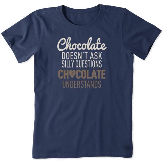 Women's Chocolate Understands Crusher Tee