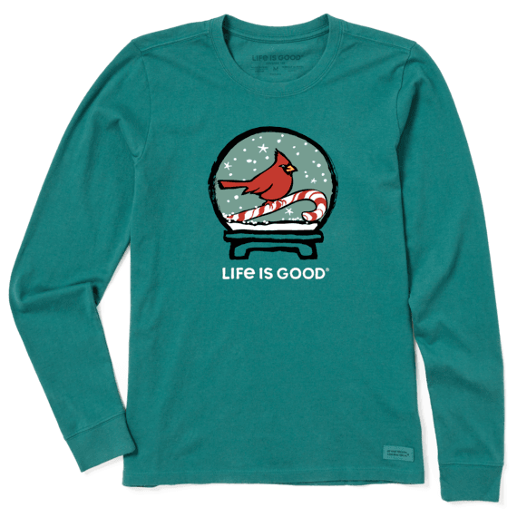 Life is Good Unisex-Adult Holiday Long Sleeve Crusher T-Shirt Eat Drink /& Be Happy