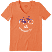 Women's Clemson Beach Cruiser Cool Vee