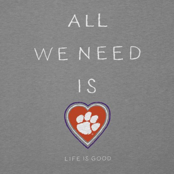 Women's Clemson Tigers All We Need Heart Cool Vee
