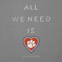 Women's Clemson Tigers All We Need Heart Cool Vee