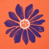 Women's Clemson Tigers Daisy Long Sleeve Cool Vee
