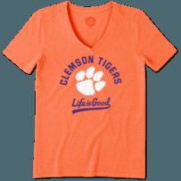 Women's Clemson Tigers Gradient Tailwhip Cool Vee