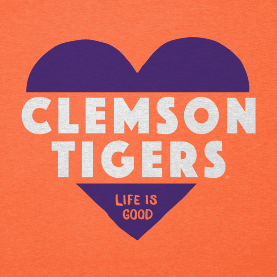 Women's Clemson Tigers Heart Knockout Cool Vee