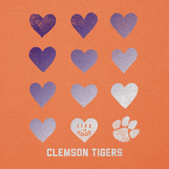 Women's Clemson Tigers Heart Stack Cool Vee