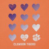Women's Clemson Tigers Heart Stack Cool Vee